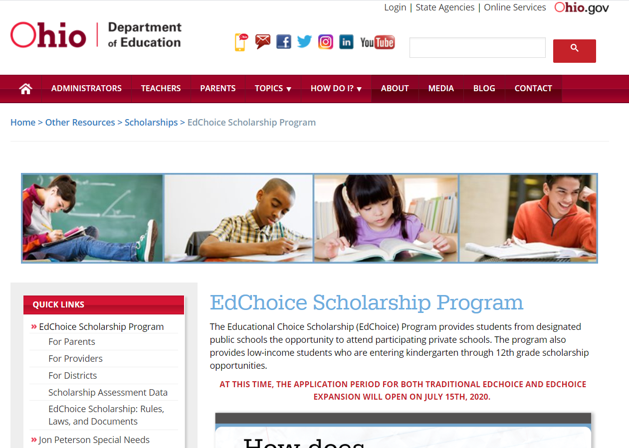 Ohio EdChoice Website