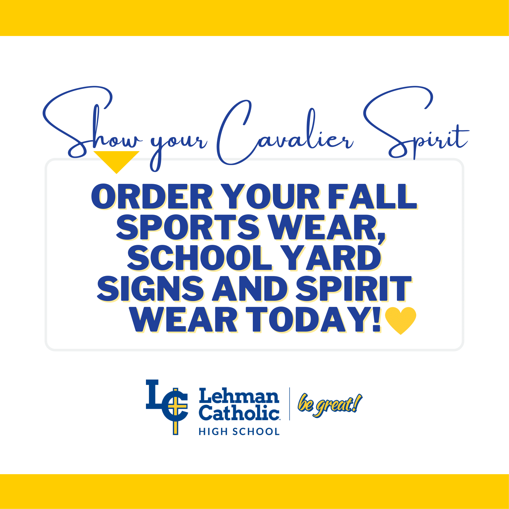 Fall Sports Wear, Yard Signs and Spirit Wear Available for Purchase